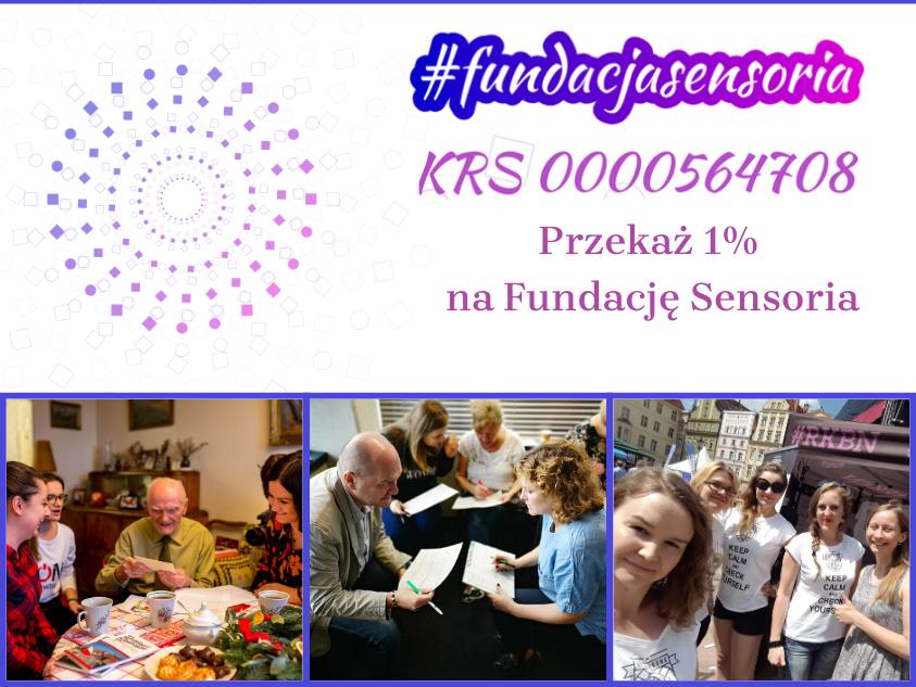 1% dla Fundacji Sensoria