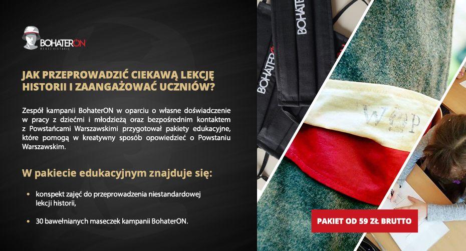 5. Edukacja Bohateron - maseczka i ulotka_pop