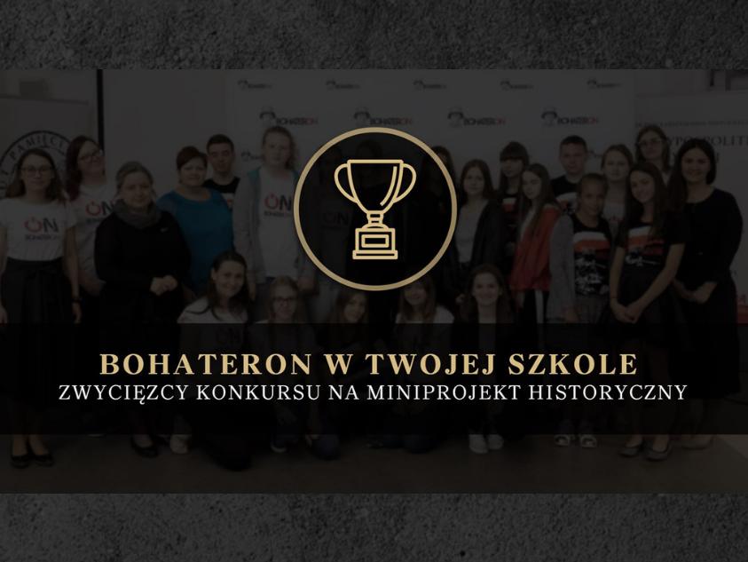 BohaterON w Twojej Szkole – nagrodziliśmy zwycięzców